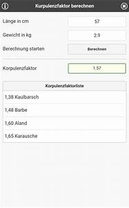 K Faktor Berechnen : angler app tools f r angler ~ Themetempest.com Abrechnung