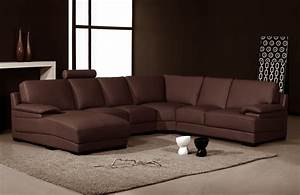 2227 modern brown leather sectional sofa With brown sectional sofa