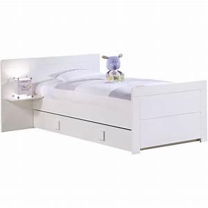 Lit Blanc 1 Personne : lit 1 personne blanc maison design ~ Teatrodelosmanantiales.com Idées de Décoration