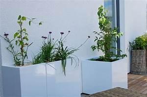 Bac A Fleur Balcon : bac a fleur moderne l 39 atelier des fleurs ~ Teatrodelosmanantiales.com Idées de Décoration
