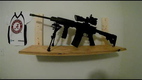 dyi homemade gun rackplatformshelf   firearm youtube