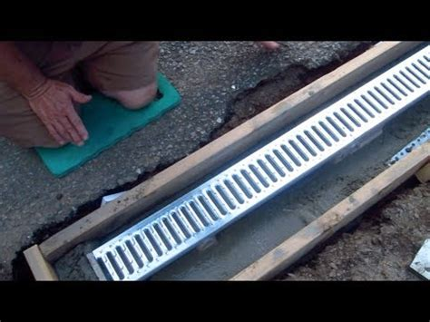 install  trench drain video    youtube
