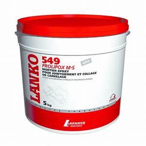 Mortier époxy haute résistance pour collage et jointoiement de carrelage 549 Prolipox M S