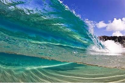 Ocean Waves Wave Clear Water Crystal Resolution