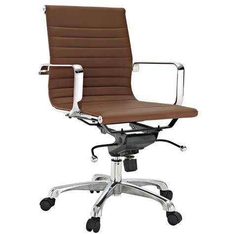 classic ribbed mid  office chair