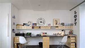 deco espace bureau With exceptional comment meubler un grand salon 4 decoration son bureau