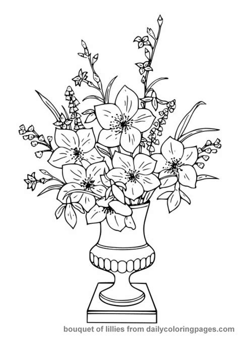 advanced flower coloring pages flower coloring page