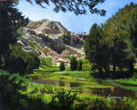 Mountain Scene Painting By Phil Cusumano