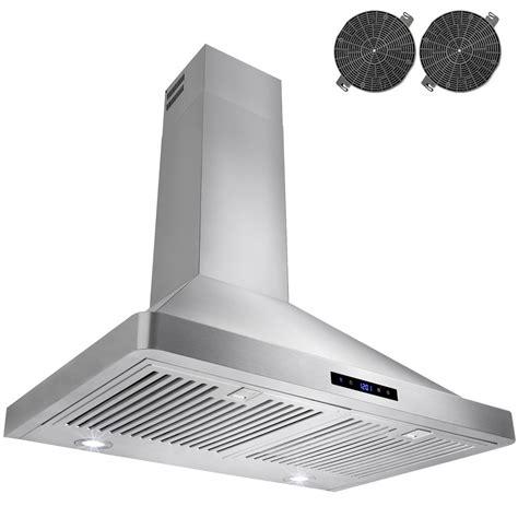 kitchen hood fan home depot akdy 30 in convertible kitchen wall mount range hood in