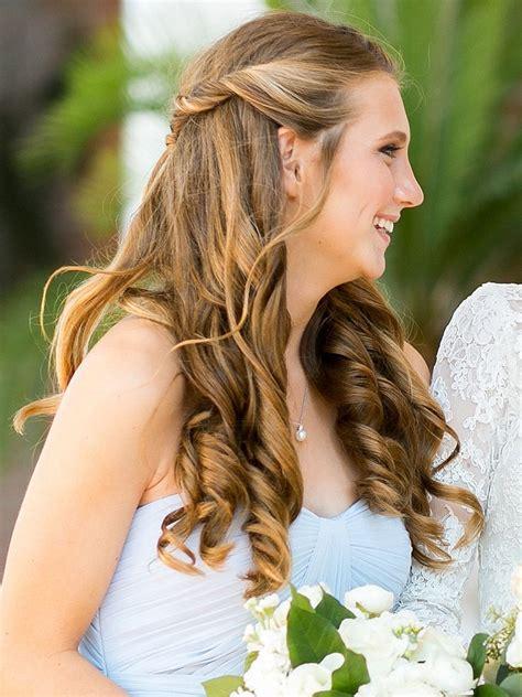 wedding hairstyles  long hair  strapless dress