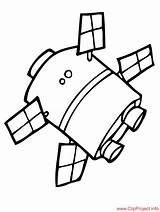Satellite Coloring Pages Space Sheet Drawings Title Children 973px 84kb sketch template