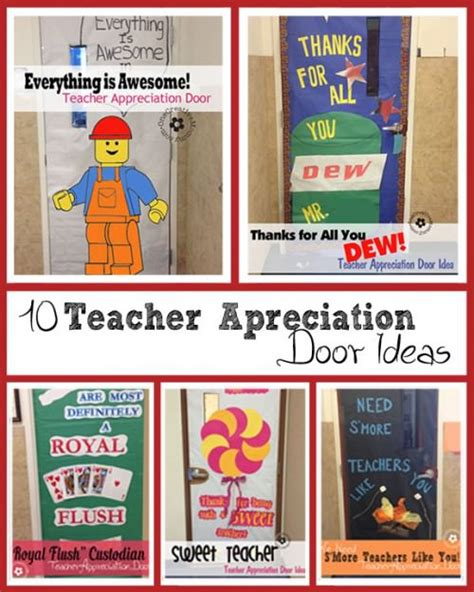 teacher appreciation ideas  door decorating