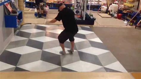 Decorative Concrete floor 3d Illusion   YouTube