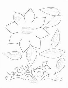 Lotus Flower Petal Template Faux Stitch Template Middle Sized Mirkwood Flower