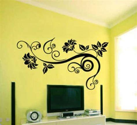 wall decor stickers flowers interior exterior doors design homeofficedecoration