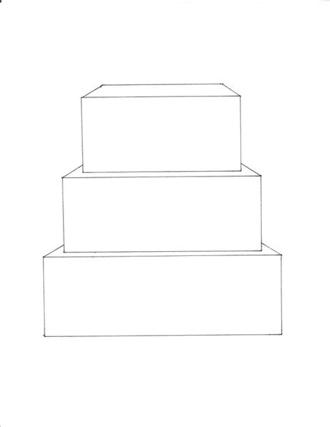 Template For Cake by 3 Tier Square Cake Template Free Downloadable Cake