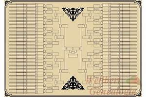 Printable Family Tree Template 9 Generations Bow Tie Empty