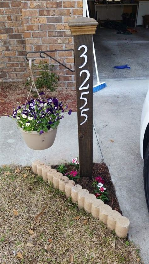 house number sign for l post address numbers post planter planters ls and mid