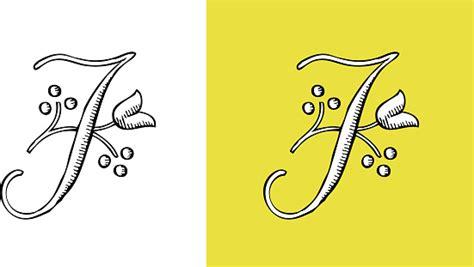 lettre  typo alphabet enluminure ornement manuscrite rtro monogramme floral vecteurs libres de