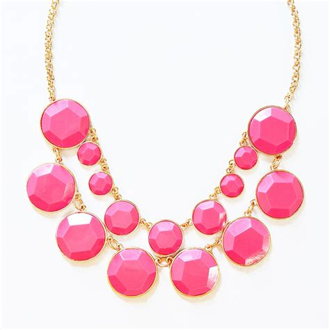 bauble box bib chunky gold chain statement necklace