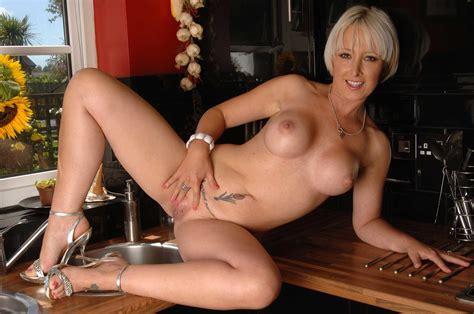 Sexyukpornstars Sexy Uk Pornstar British Blonde Milf Tracy Venus Strips In Her Kitchen Nude Gallery