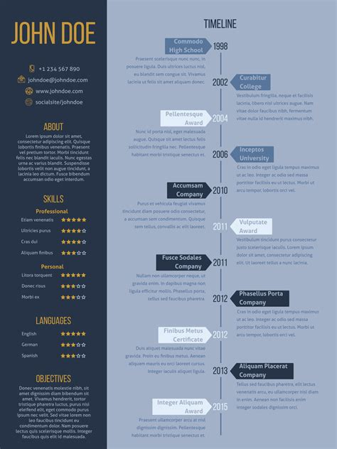 Chronological Resume Cv Modern Design by Resume Formats And Templates