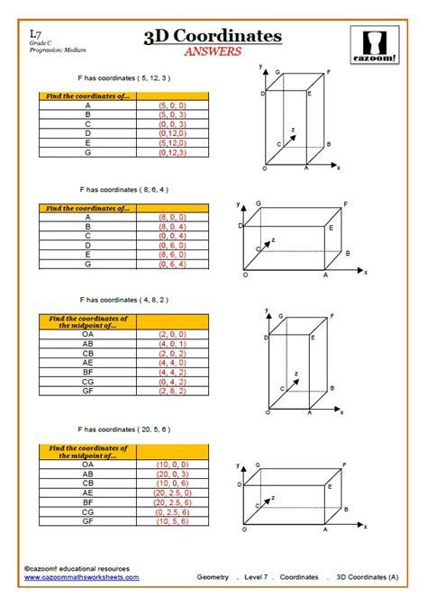 coordinates worksheets ks3 pdf 3d coordinates worksheet
