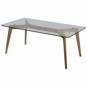 Table Verre Bois : table basse design verre et bois fiord achat vente table basse table basse design ~ Teatrodelosmanantiales.com Idées de Décoration
