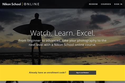 Back To School Nikon Launches Online Photography Courses