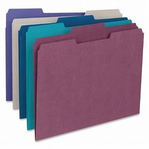 smead file folder 1 3 cut tab letter size assorted With smead letter size file folders