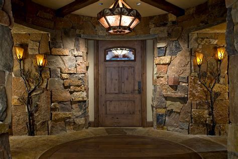 rustic refinement  natural stone entryway paula
