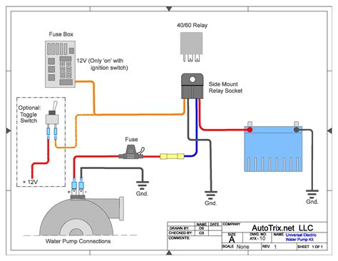 Autotrix Universal Electric Water Pump Relay Install