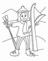Coloring Skiing December Skijanje Coloriage Ski Ausmalbilder Dezember Bojanke Imprimer Za Holiday Narty Chat Dessin Colorier Malvorlagen Decu Gratuit Kinder sketch template