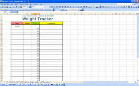 printable weight loss journal excel templates