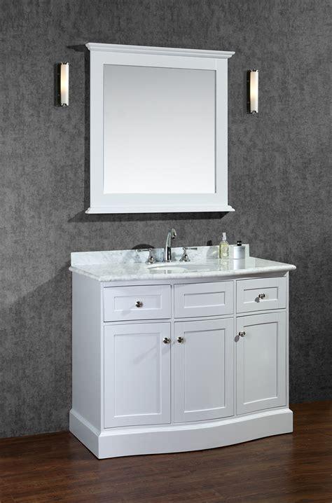 white single bathroom vanity ace montauk 42 inch single sink bathroom vanity set alpine