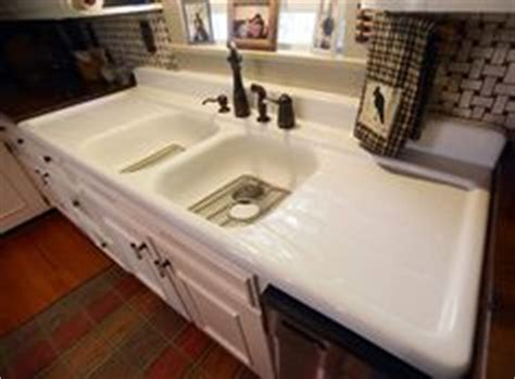 retro kitchen sink with drainboard antique cast iron farmhouse vintage kitchen sink 7780