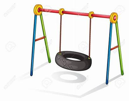 Swing Tire Clipart Playground Equipment Clip Silhouette
