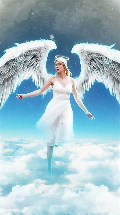 Angel Iphone Wallpapers Angels Sky Clouds Mobile