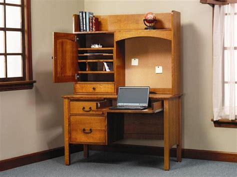 storage desk with hutch amish rivertowne 48 quot desk with storage hutch top and corkboard