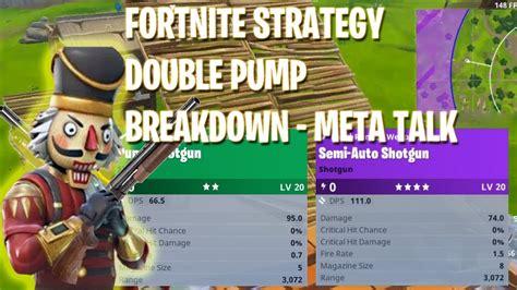 perfect double pump shotgun fortnite tips youtube