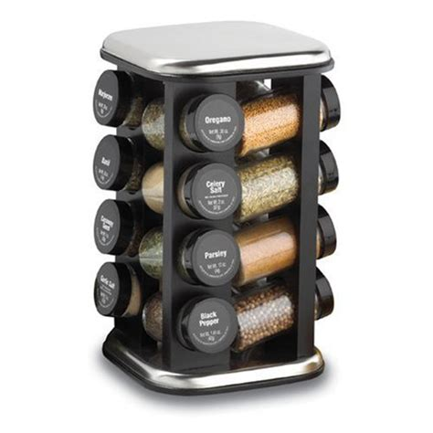 Revolving Spice Rack With 16 Spices by Magnetic Spice Rack Kamenstein Revolving Spice Rack With