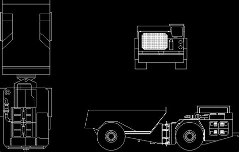 truck ug  undergroung minimg dwg block  autocad