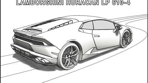 Beautiful Lamborghini Coloring Pages