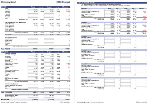 business budget template  excel budget  business