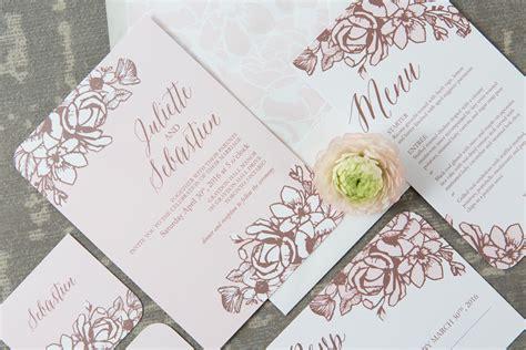 rose gold floral wedding suite wedding templates