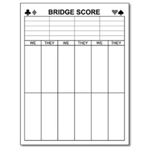 Printable Bridge Score Sheet Template 6 Best Images Of Bridge Tally Cards Printable Printable