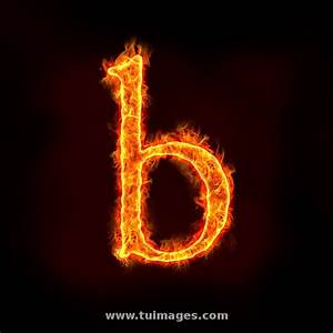 stock images fire alphabets, small letter b stock photos