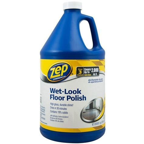 ZEP 128 oz. Wet Look Floor Polish (Case of 4) ZUWLFF128