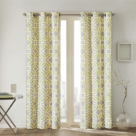Geometric Pattern Sheer Curtains by Intelligent Design Alana Geometric Print Curtain Panel