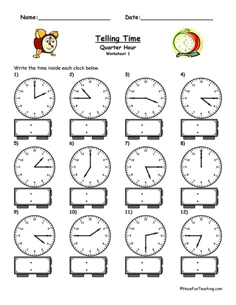 clock worksheets have fun teaching
